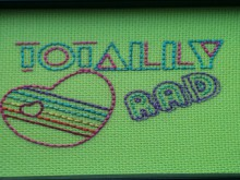 1980s-themed embroidery sampler
