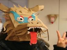 cardboard chinese zodiac masks