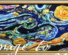 a fabric rendition of starry night