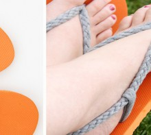 how-to: make braided knit flip-flop straps