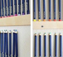 handmade wall mounted pencil holder