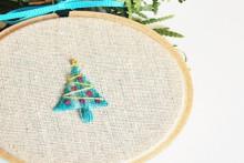how-to: crewel christmas tree ornament