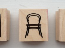 three small chairs stamp set