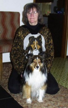 "homemade ""sheltie sweater"""