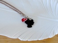 how-to: shrink plastic silhouette pendant necklace