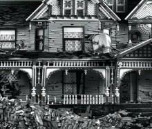 abandoned lego victorian houses