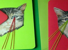 kitten laser christmas cards