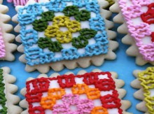 food gifts: granny square cookies
