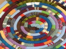 knitted labyrinth rug