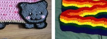 nyan cat scarf, crochet patterns