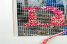 cross-stitch on mesh