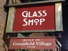 greenfield village's glass shop