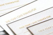 letterpress giving thanks cards
