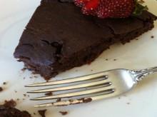 how-to: chocolate bean brownie cake