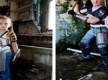 post-apocalypse/zombie slaying family photo shoot