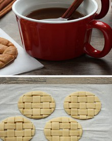 how-to: lattice pie crust cookies