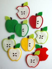how-to: felt apple coasters