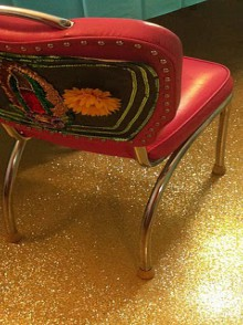 craft home decor: make a glittered floor