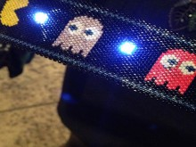 beaded etextile pac-man cuff