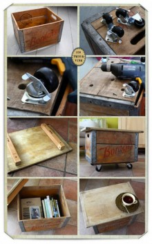 how-to: rolling crate footstool