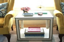 how-to: ikea hack nailhead side table