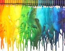 how to: melted crayon art