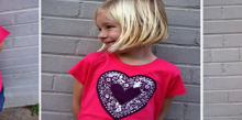 how-to: doily heart t-shirt