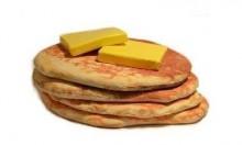 plush buttered pancakes