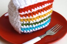 how-to: crochet rainbow cake