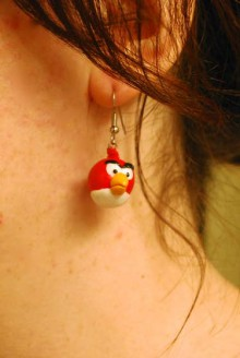 how-to: angry birds earrings