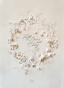 etsy's papercut valentine