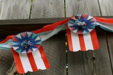 paper sky lantern: cheery fourth of july garland