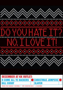 andrew salomone's bad christmas sweater exhibit in london