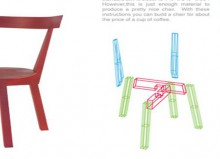 craft home decor: build a 2×4 chair
