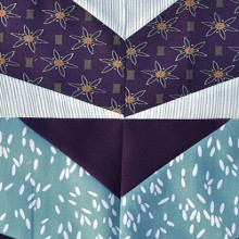 modern starlings quilt block