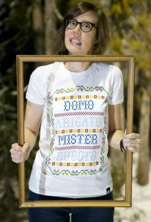 cross-stitch t-shirts from origami ghost