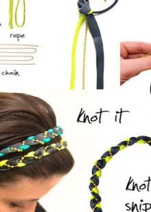 how-to: braided leather, rope, and chain headband