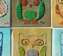 artist postcards : fabric artist trading cards