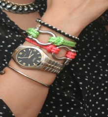 how-to: neon rope bracelets