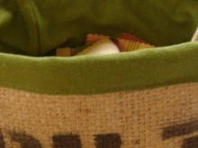 how-to: upcycle coffee sac burlap into a fabric box