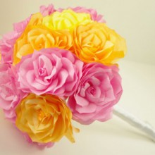 flowers for valentines: lifelong beautiful handpainted paper roses