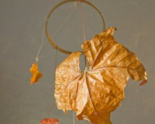 how-to: autumn leaf mobile