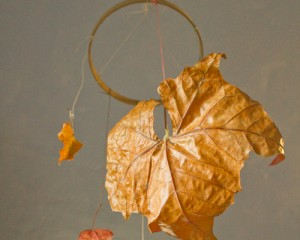 autumn leaf mobile