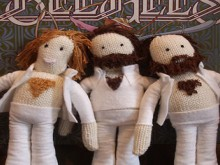 knit bee gees dolls
