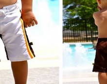 how-to: refashion a boy's swimsuit