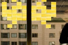 post-it note space invaders roundup