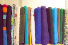 how-to: upcycle cardboard record album covers for fabric storage