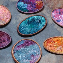 crafty jewelry: brilliantly colored feltwork
