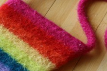 how-to: felted rainbow pouch