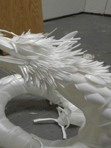 arts & design: plastic dragon